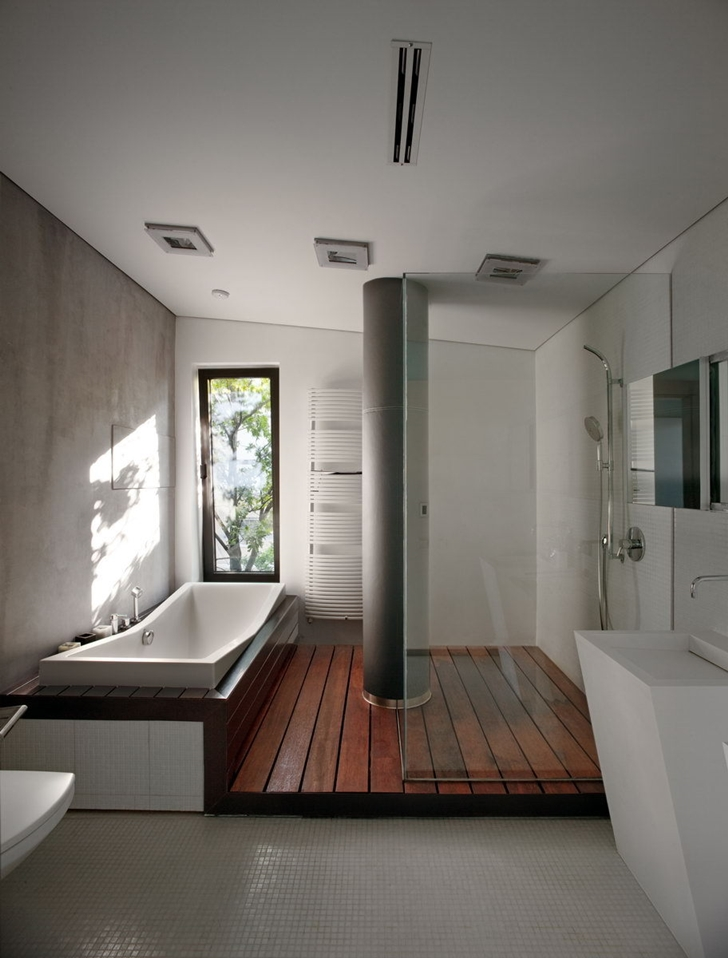 Bathroom in Contemporary house in Ukraine by Drozdov & Partners