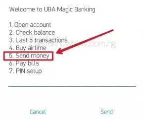 UBA Money Transfer Code