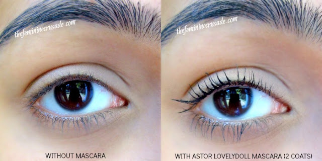 Picture of Astor Big and Beautiful LovelyDoll Eye Opening Mascara Swatch
