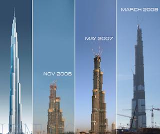 Proses Pembangunan Bruj Khalifa,