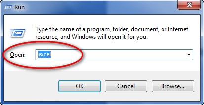 opening excel 2016 run command