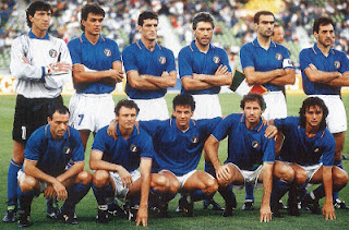 The Italian team that faced England in Bari to decide which nation finished third at the 1990 World Cup