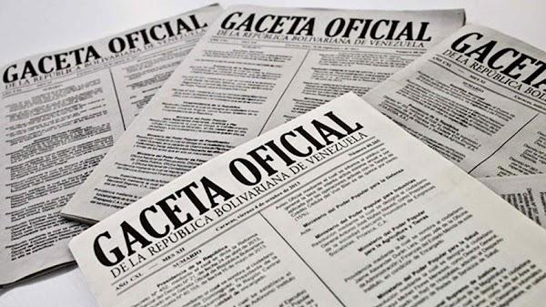 Véase  Gaceta Oficial N° 41.407 29 de mayo de 2018