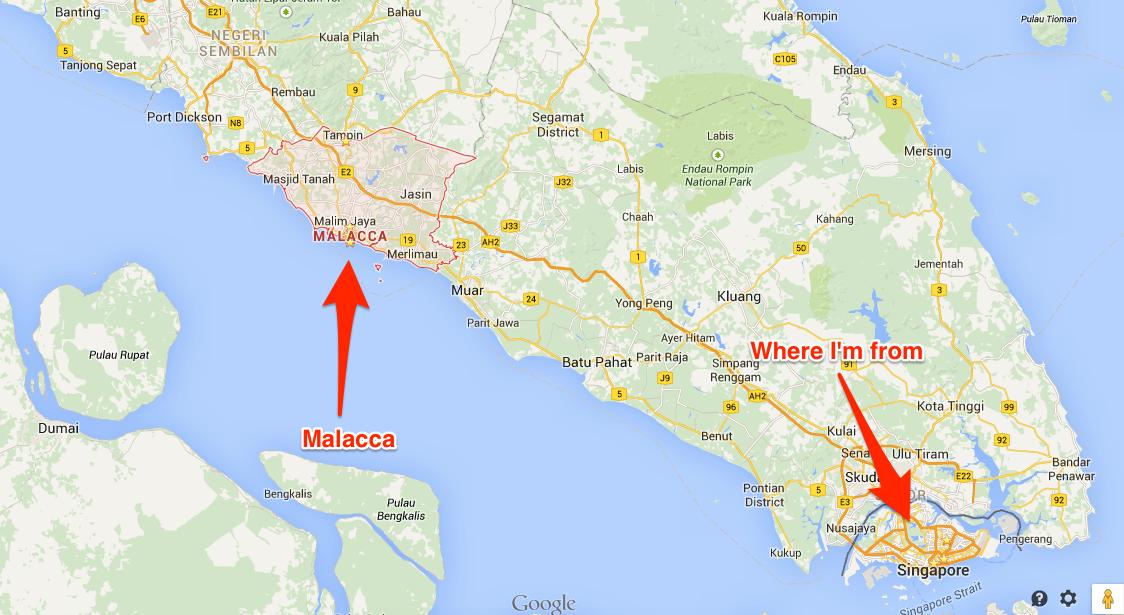 Malacca On World Map.Stan Neo Melaka 2014