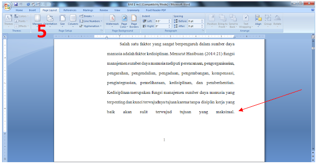 cara membuat halaman pada skripsi