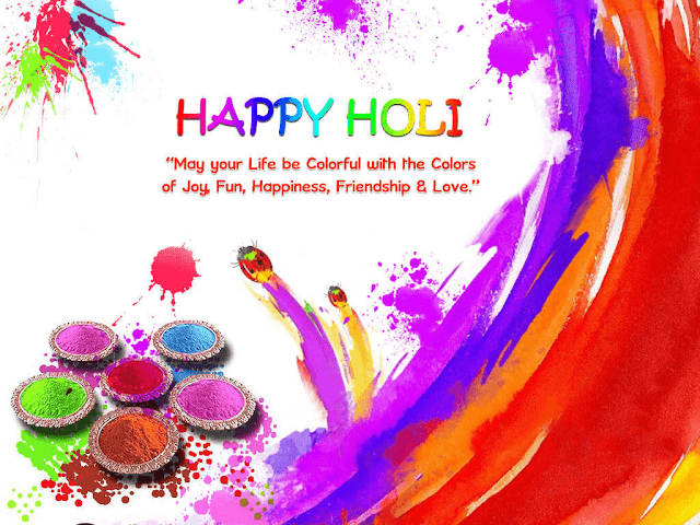 Happy Holi Festival of Colors Greeting Wishes Card