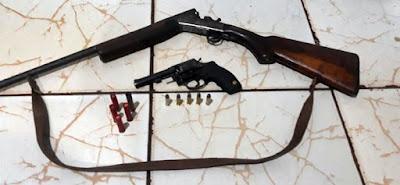 ROTAM apreende armas e munições em Manoel Ribas