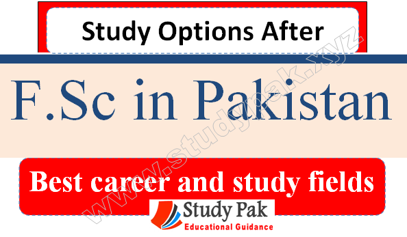 best fields and study options after fsc pre medical in Pakistan