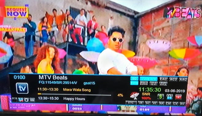 MTV Beats Hindi Music Channel available on on DD Free dish