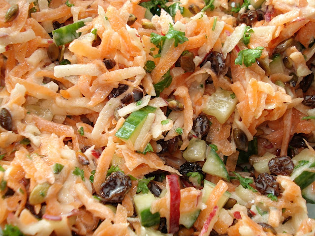 Close up of Carrot Salad