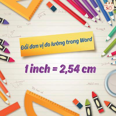 CACH THAY DOI DON VI THUOC DO TRONG WORD