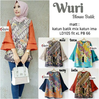 model baju blus batik modern