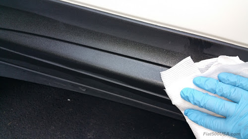 Cleaning lower moulding