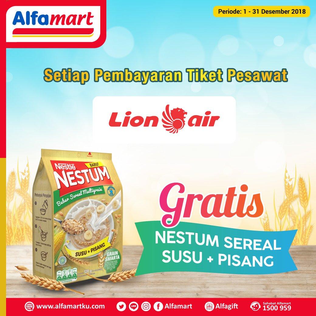 #Alfamart - Promo Bayar TIket Pesawat Lion Air Gratis 1 pc Nestum Sereal Susu
