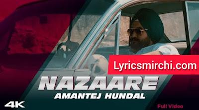 NAZAARE नज़ारे Song Lyrics   Amantej Hundal   Latest Punjabi Song 2020