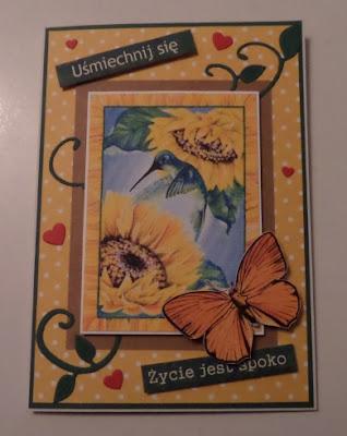 Kwiatowa wymianka kartkowa
