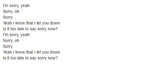 Belajar Bahasa Inggris Dari Lagu Justin Bieber Yang Berjudul I'M Sorry