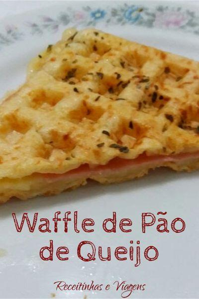 Como fazer waffle de pao de queijo