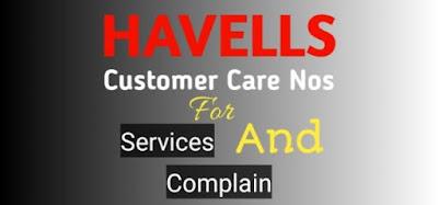 Havells Customer Care Number, Havells Fan Customer Care Number