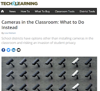 "Screenshot of ""Cameras in the Classroom"" article in Tech & Learning magazine"