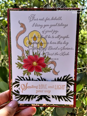 God's Peace, Beautiful Boughs Dies, Brightly Gleaming SDPS, 2019 Holiday Catalogue, Rhapsody in craft, Stampin' Up, #loveitchopit, Heart of Christmas