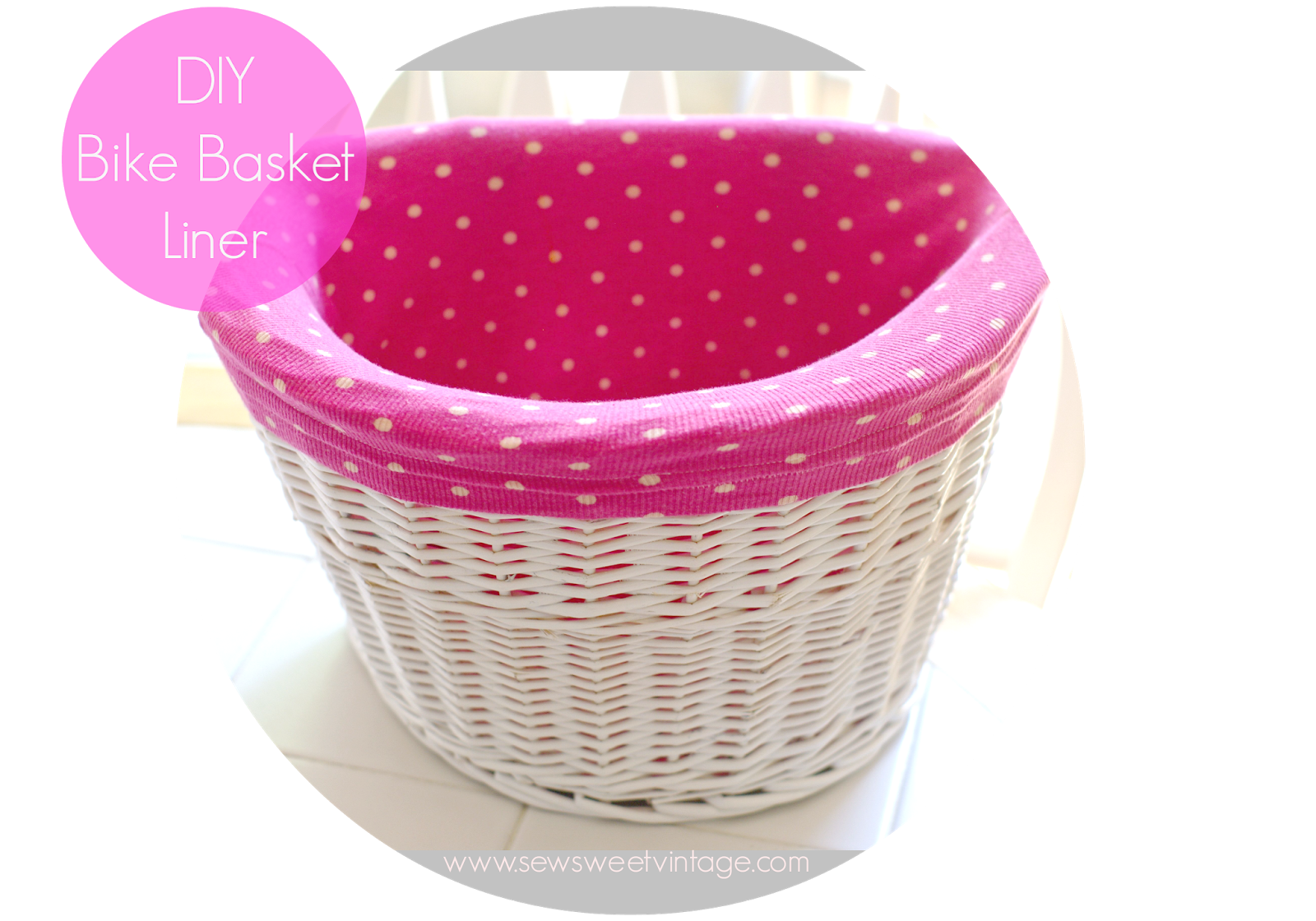 diy bike basket liner made with recycled tank top