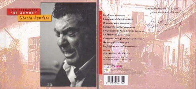 """LUIS EL ZAMBO """"GLORIA bENDITA"""" CD ÚNICO DISCO EN SOLITARIO DE SU CARRERA."""