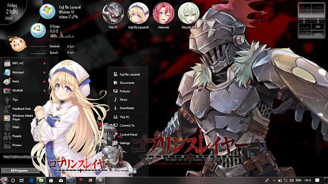 Windows 10 Ver. 1809 Theme Goblin Slayer by Enji Riz Lazuardi