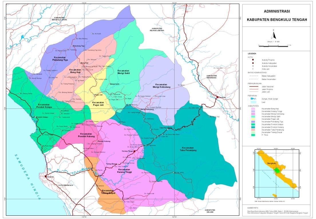 Peta Kota: Peta Kabupaten Bengkulu Tengah