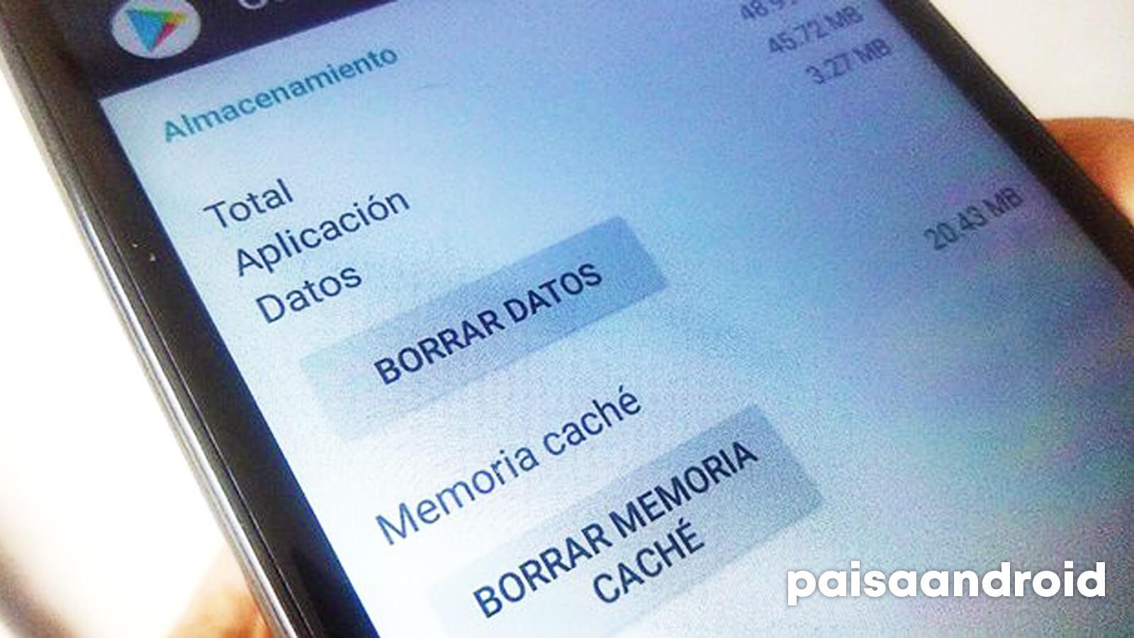 gestionar datos y caché aplicación android