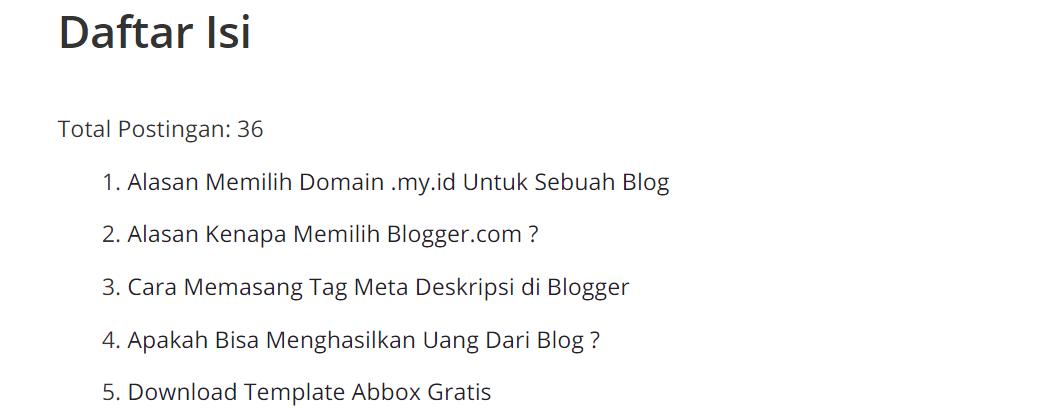 Cara Membuat Sitemap Blog Sederhana