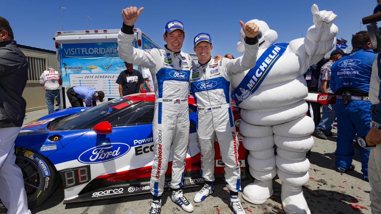 Ryan Briscoe và Richard Westbrook là hai tay đua lái Ford GT
