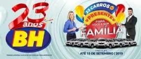 Cadastrar Promoção 23 Anos BH Supermercados Aniversário 2019 - Carros 0KM
