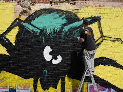 L'araignee au plafond - HMI CNN - fresque murale