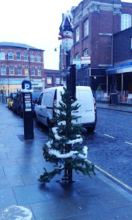 Christmas tree in Stockport