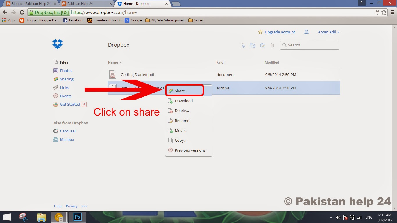 Trick to obtain direct download links for dropbox files | pakistan.