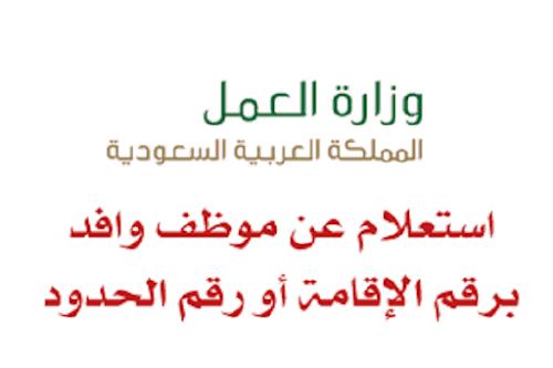 خطوات الاستعلام عن موظف وافد 1441 عبر موقع وزارة الموارد البشرية الرسمي hrsd.gov.sa
