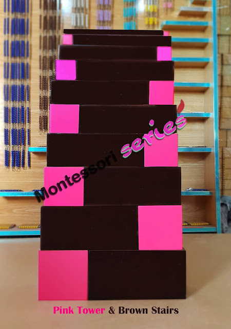 Pink Tower and Brown stairs Extension Cards