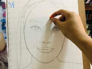 สอนวาดภาพเหมือนขาวดำและสีไม้