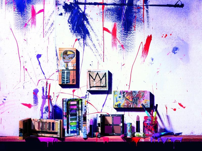 colaboración de maquillaje de edición limitada Basquiat