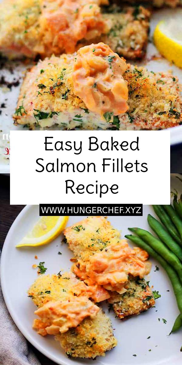 Easy Baked Salmon Fillets Recipe - Baked Salmon Fillets breaded with panko crumbs and served with the most luxurious, easy to make Tuscan Tomato Sauce. #baked #bakedsalmon #easydinnerrecipe #fillets #easydinner #dinner #maindish #dish #seafood #seafoodrecipe