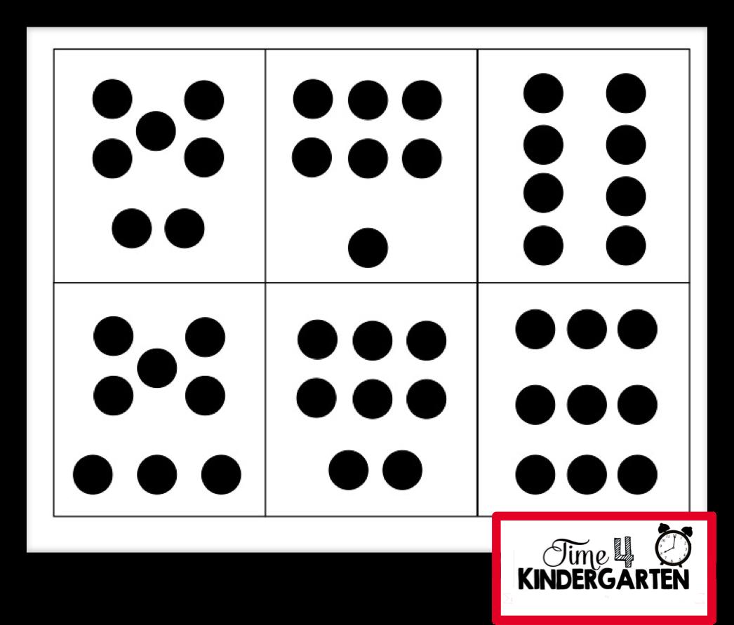 time 4 kindergarten subitizing building strong number sense in kindergarten. Black Bedroom Furniture Sets. Home Design Ideas