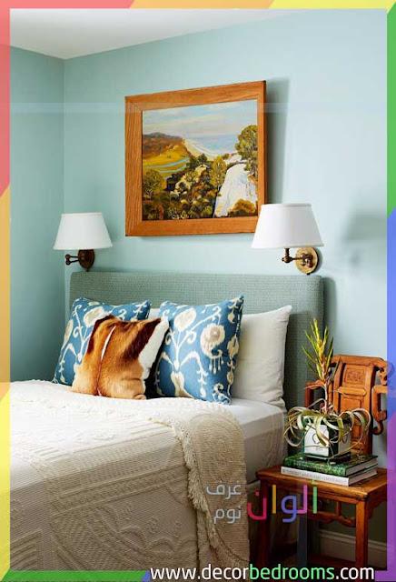 طلاء أزرق فاتح لغرفة نوم قديمة