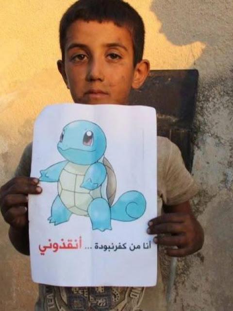 Pesan Menyayat Hati Anak-anak Suriah untuk Pemain Pokemon Go Di Seluruh Dunia