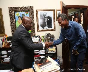 Lucky Mensah meets Akufo-Addo