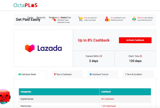 Malaysia cashback Octaplus