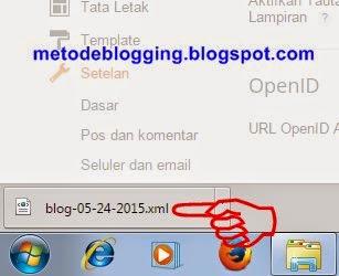 Cara Ekspor Artikel Blog di Blogger Blogspot