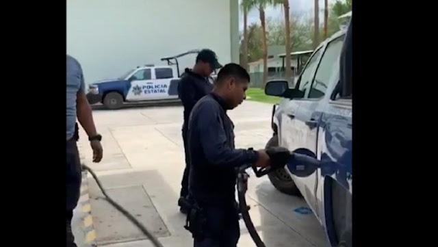 VIDEO.- Por ordenes del CDN Militares y Policías se quedan sin gasolina en Nuevo Laredo