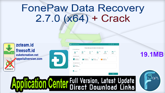 FonePaw Data Recovery 2.7.0 (x64) + Crack_ ZcTeam.id