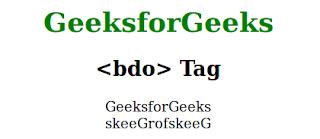 penggunaan tag bdo pada html